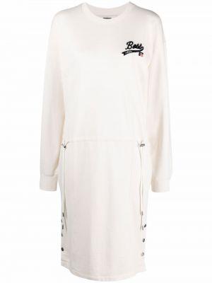 Платье макси с длинными рукавами - белое Boss Hugo Boss