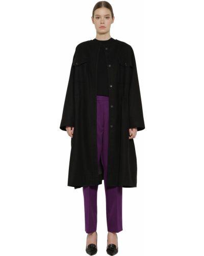 Кашемировое пальто - черное Rochas