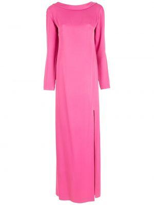 Свободное розовое вечернее платье с декольте Gloria Coelho