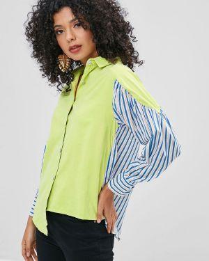Рубашка в полоску асимметричная Zaful