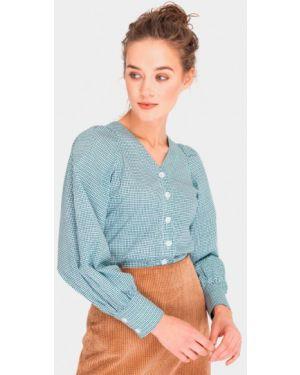 Бирюзовая блузка с длинным рукавом Shtoyko
