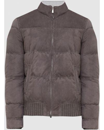 Замшевая куртка - серая Enrico Mandelli