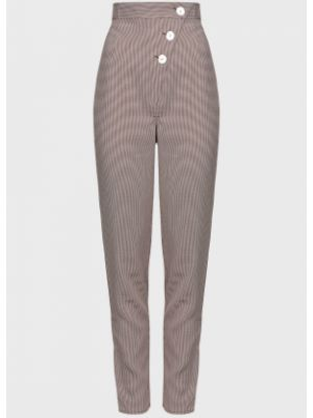 Коричневые брюки на пуговицах The Fifth Label