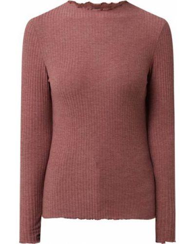 Różowa bluzka prążkowana Only