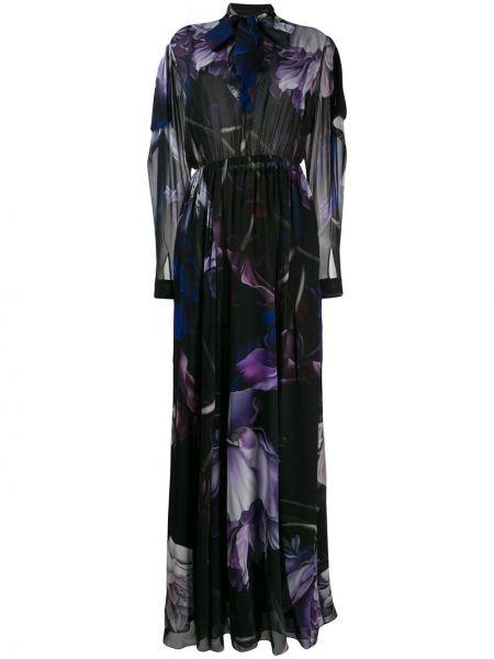 Приталенное платье с бантом с драпировкой на пуговицах Roberto Cavalli