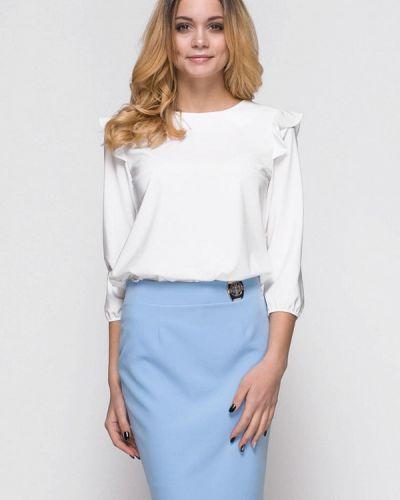 Юбочный костюм белый голубой Zubrytskaya
