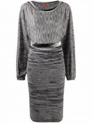 Шерстяное платье миди - черное Missoni