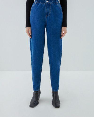Хлопковые синие джинсы на резинке Zarina