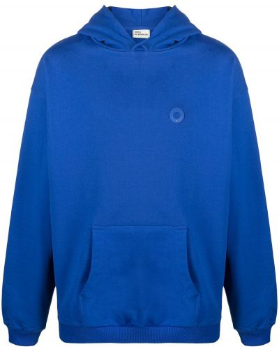 Niebieska bluza długa z kapturem z długimi rękawami Drole De Monsieur