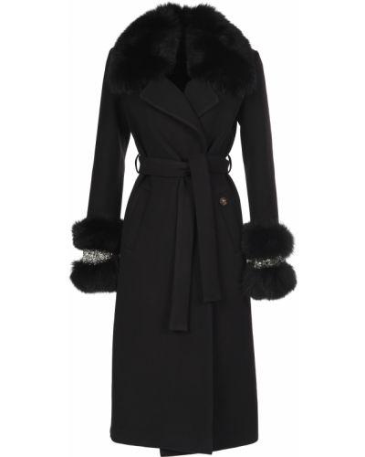 Черное пальто с капюшоном Philipp Plein