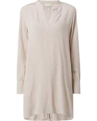 Beżowa bluzka z wiskozy Levete Room