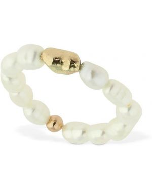 Złoty pierścionek perły Lil