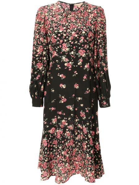 Платье на пуговицах с цветочным принтом Michael Kors Collection