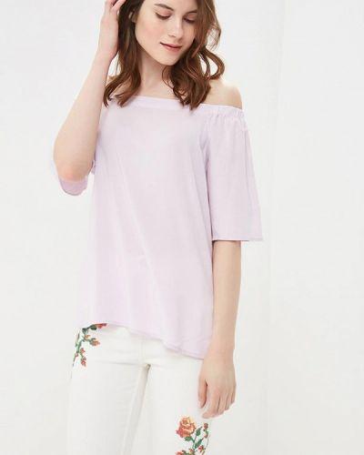 Фиолетовая блузка с открытыми плечами Befree