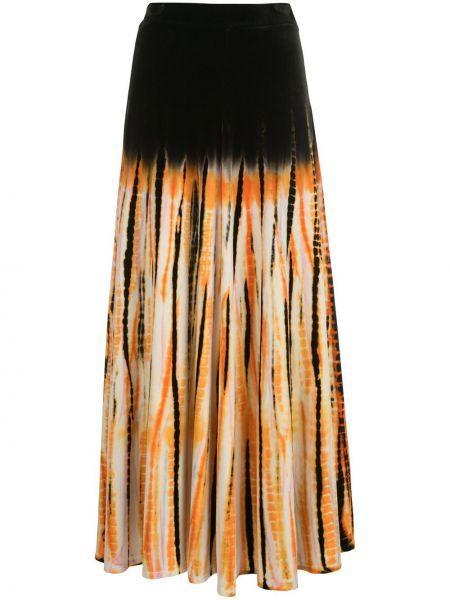 Biała spódnica maxi z wysokim stanem bawełniana Proenza Schouler
