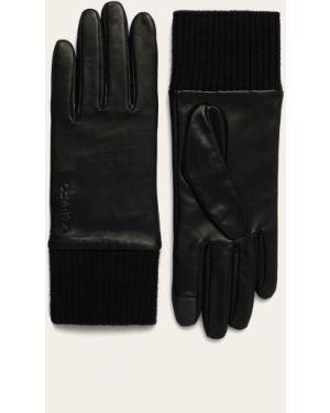 Кожаные перчатки Calvin Klein