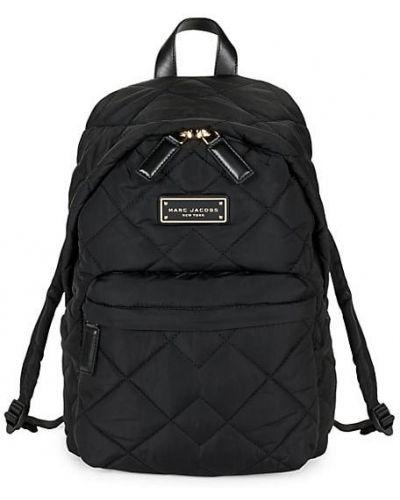 Текстильный стеганый черный рюкзак Marc Jacobs