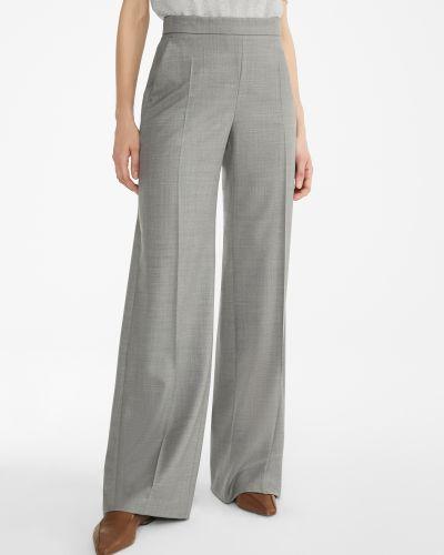Шерстяные брюки - серые Maxmara