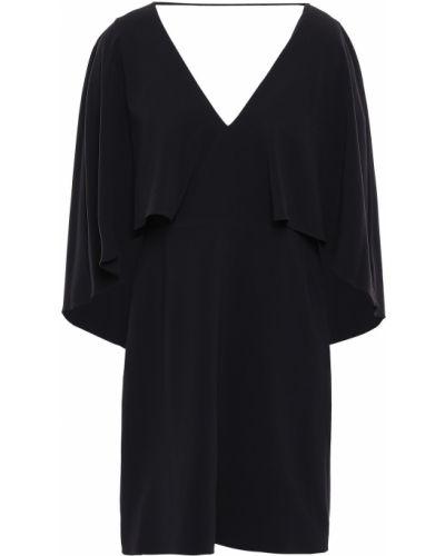 Черное платье мини с подкладкой из крепа Halston Heritage