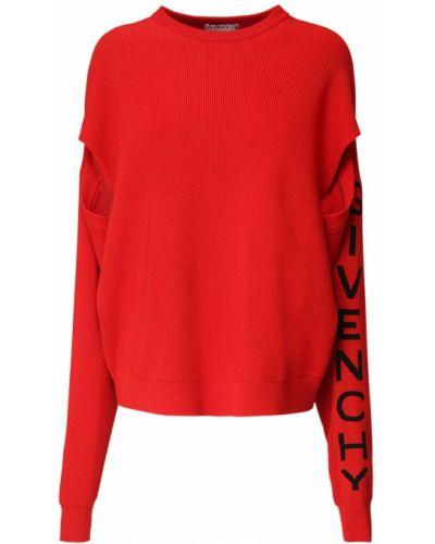Prążkowany sweter wełniany Givenchy