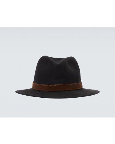 Klasyczny czarny klasyczny kapelusz od królika Borsalino