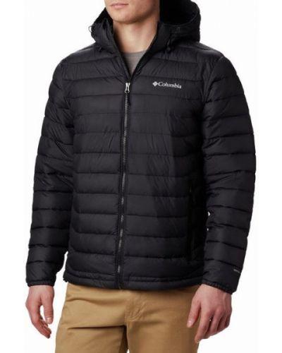 Утепленная черная куртка с воротником Columbia