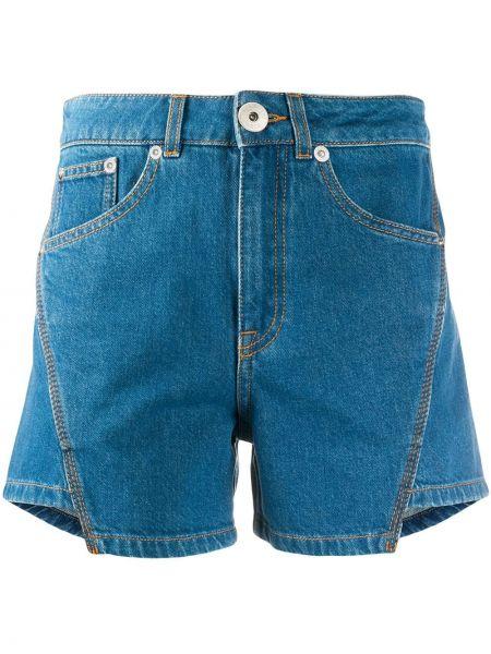 Джинсовые шорты с карманами со стразами на пуговицах Lanvin