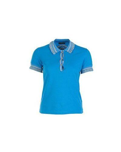 Голубое поло спортивное Roberto Cavalli