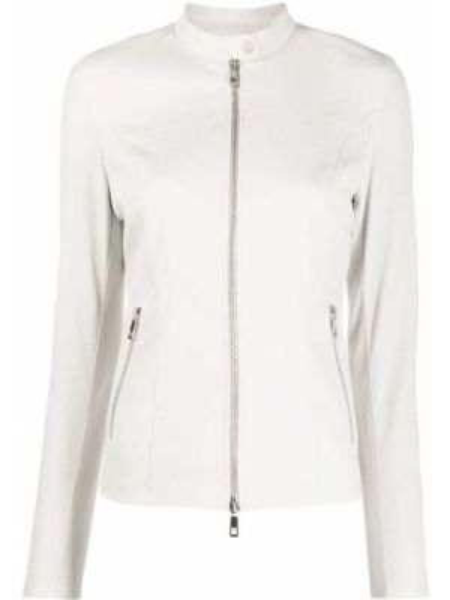 Белая куртка на молнии с воротником с карманами Desa 1972