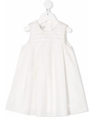 Biała sukienka bez rękawów bawełniana Baby Dior