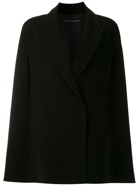 Черное свободное пальто на пуговицах свободного кроя Gloria Coelho