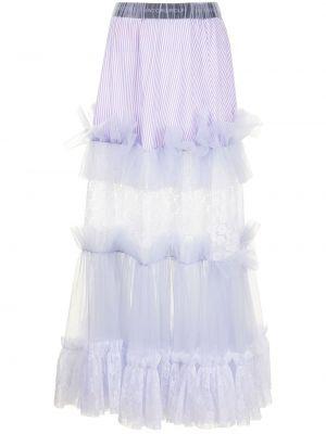 Фиолетовая с завышенной талией бархатная юбка макси Viktor & Rolf