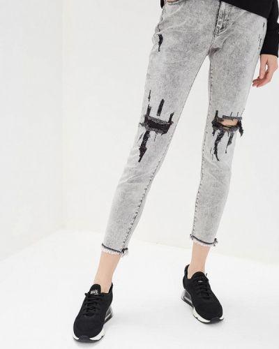 Серые джинсы-скинни One Teaspoon