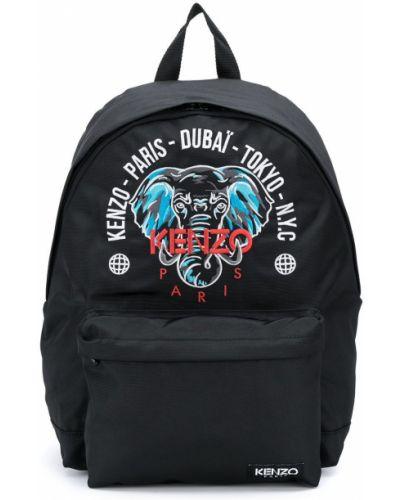 Черный рюкзак с карманами на молнии Kenzo Kids