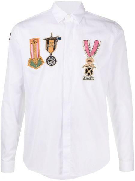 Koszula z długim rękawem klasyczna wojskowy Valentino