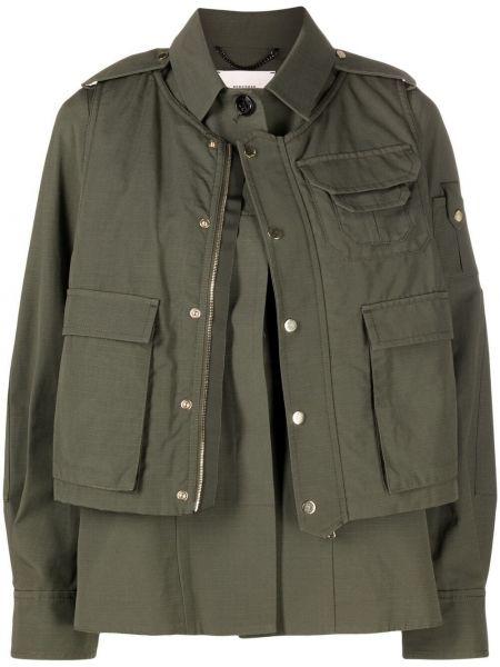 Ватная длинная куртка милитари хаки Dorothee Schumacher