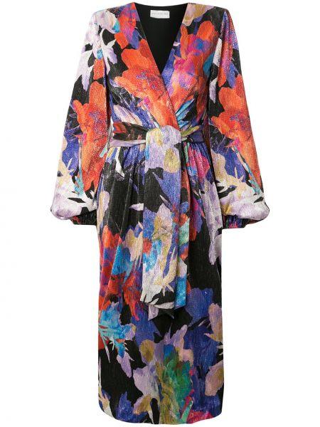 Платье миди с запахом с V-образным вырезом Rebecca Vallance