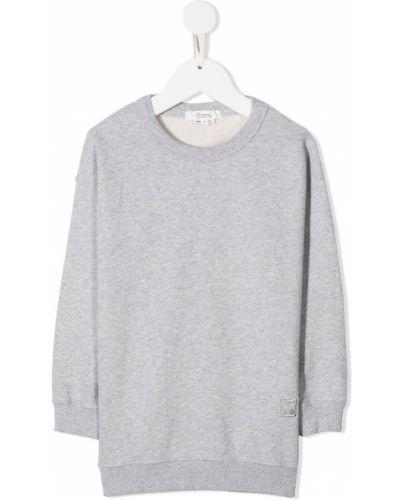 Bawełna bawełna bluza z haftem z długimi rękawami Bonpoint