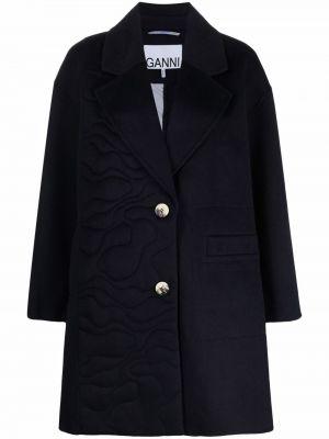 Синее пальто из полиэстера Ganni