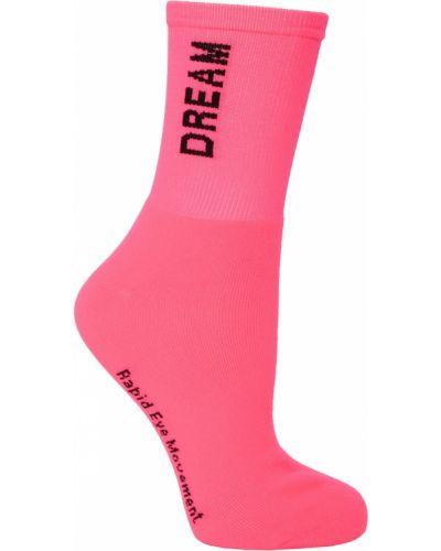 Носки с надписью розовый Msgm