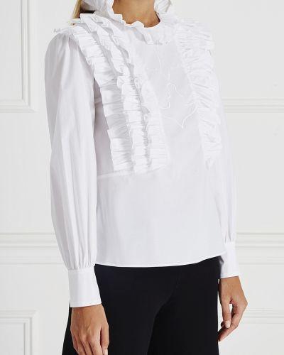 Блузка с рюшами с вышивкой Vivetta