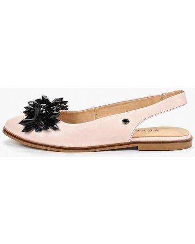 Кожаные туфли с открытой пяткой розовый Tuffoni