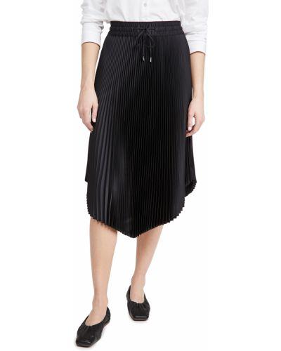 Плиссированная черная юбка на резинке Club Monaco