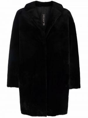Черное из мериноса пальто Blancha