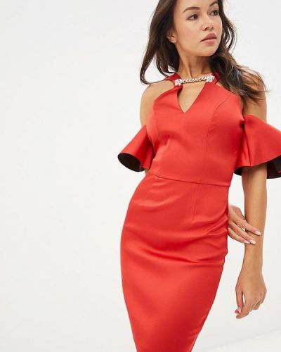Вечернее платье осеннее красный Love Republic