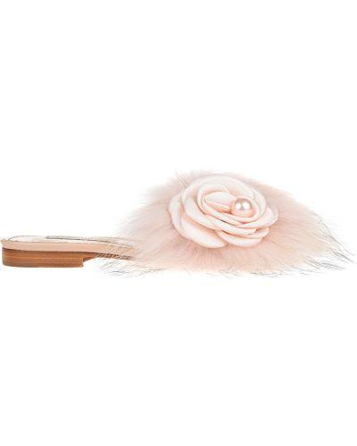 Шлепанцы розовый замшевый Pokemaoke