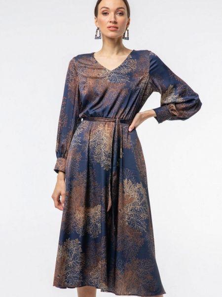 Повседневное платье синее весеннее Vladi Collection