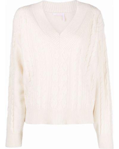 Пуловер с вырезом - белый See By Chloé