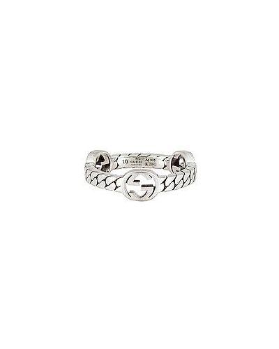 Pierścionek z diamentem srebrny Gucci
