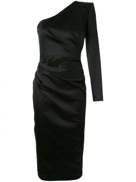 Платье на одно плечо на молнии Alex Perry